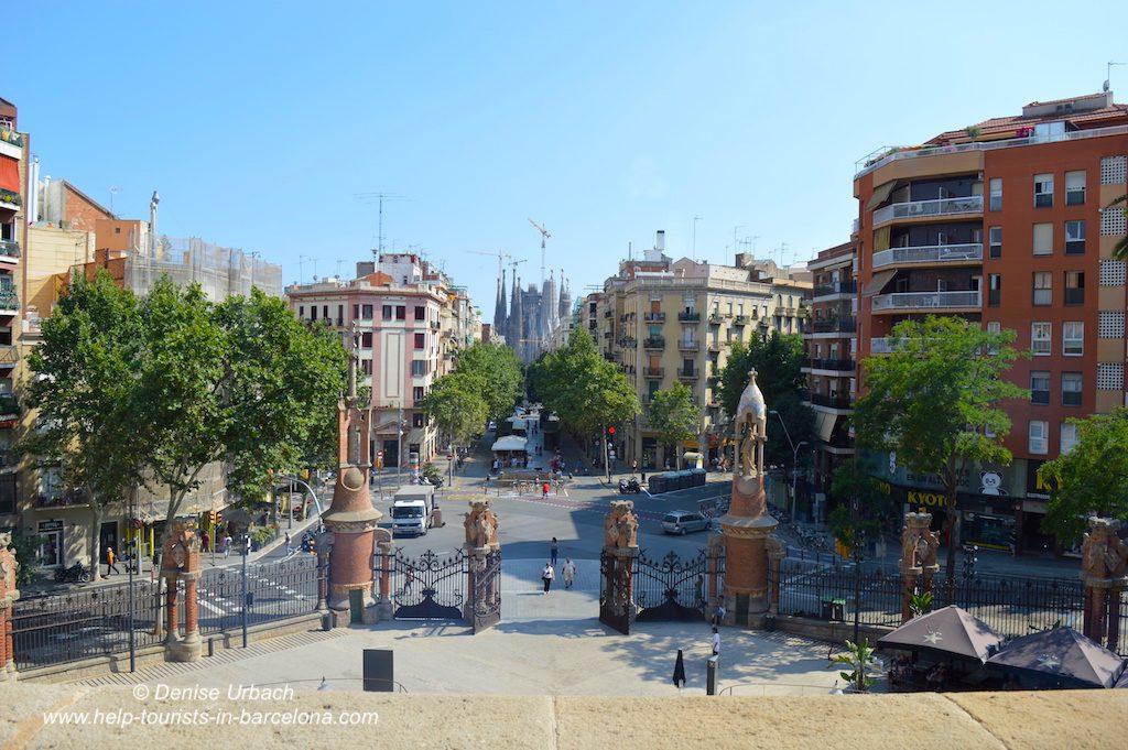 Blick auf Sagrada Familia von Recinte Modernista de Sant Pau
