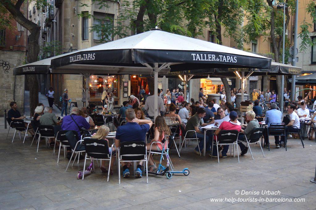 Cafeterrasse Barti Gotic Barcelona