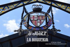 Eingang Boqueria Barcelona