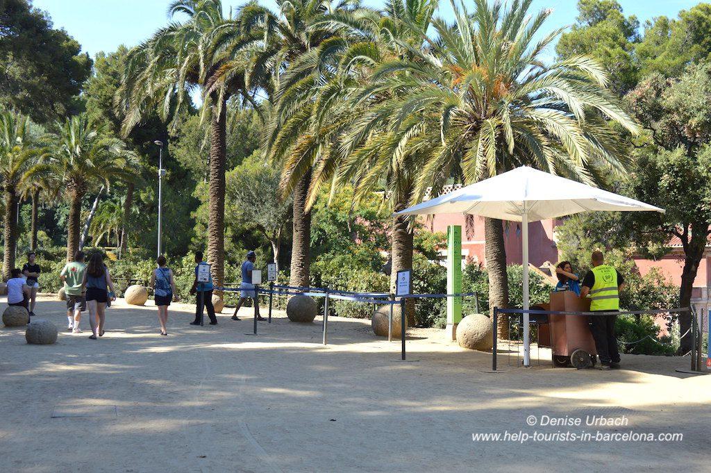 Eingang Park Güell Barcelona