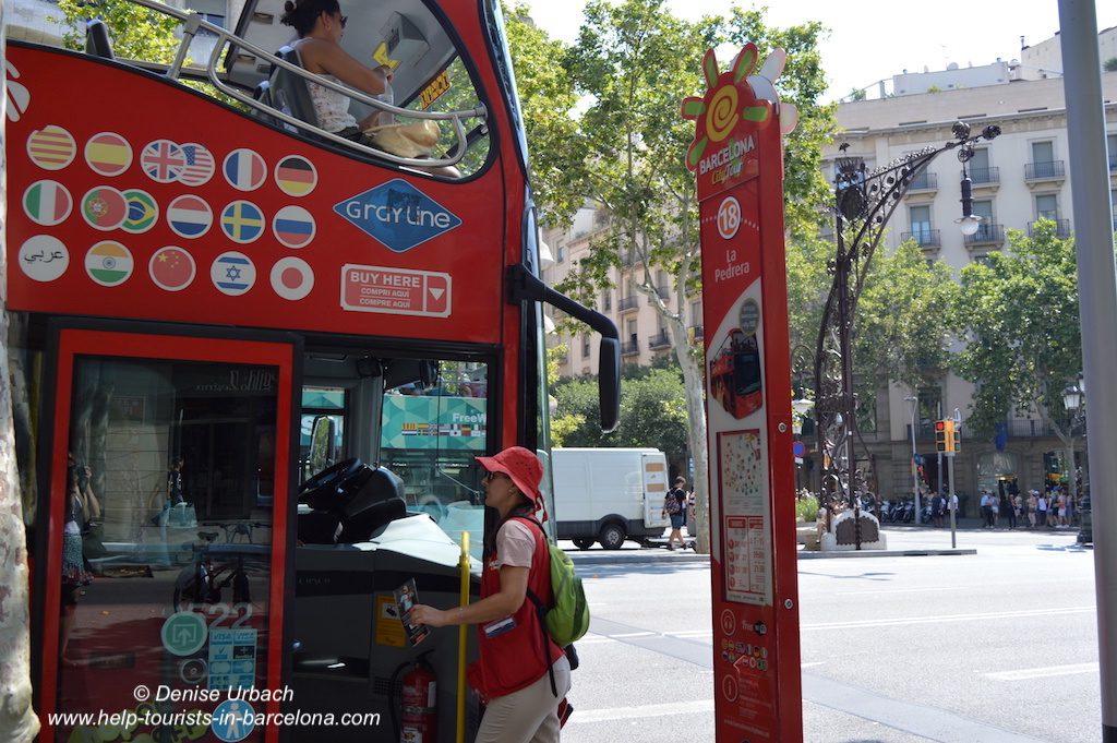 Haltestelle Barcelona City Tour