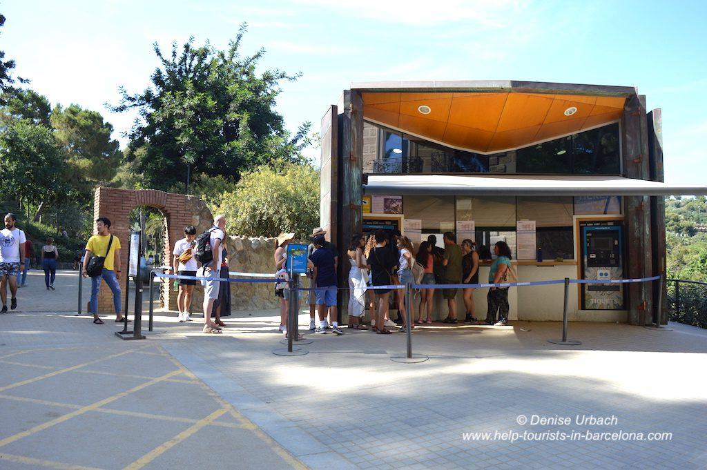 Kasse Park Güell Barcelona