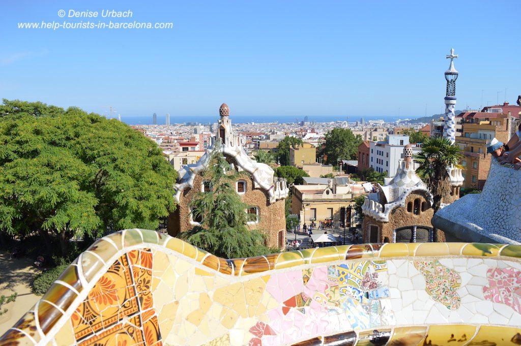 Park Güell Ausblick auf Barcelona