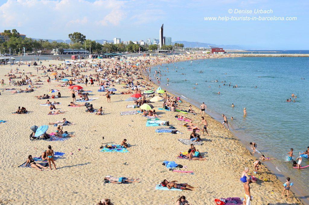 Strandleben Barcelona