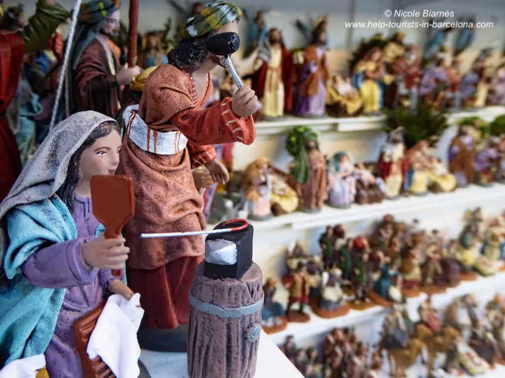 krippenfiguren weihnachten in Barcelona